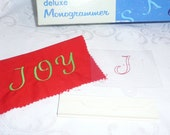 Singer Deluxe Monogrammer Letter J Cam and Placement Guide