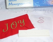 Singer Deluxe Monogrammer Letter S Cam and Placement Guide