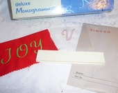 Singer Deluxe Monogrammer Letter V Cam and Placement Guide