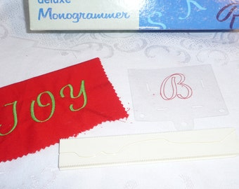 Singer Deluxe Monogrammer Letter B Cam and Placement Guide