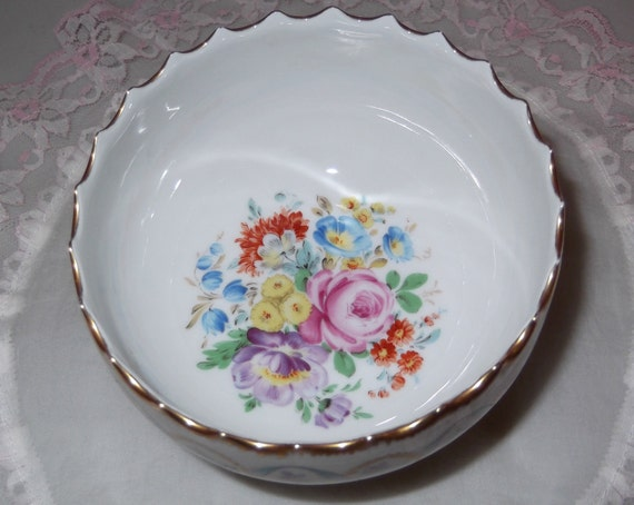 Reserved For Anne Marie, Vintage Limoges France Bowl Floral Design