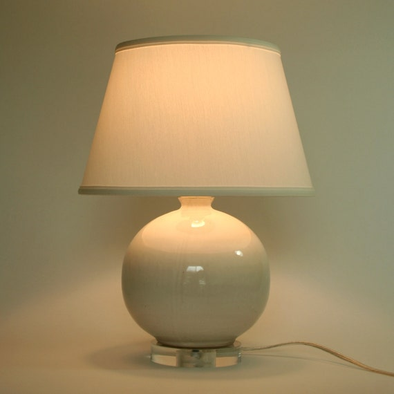 White Ceramic Accent Lamp Base