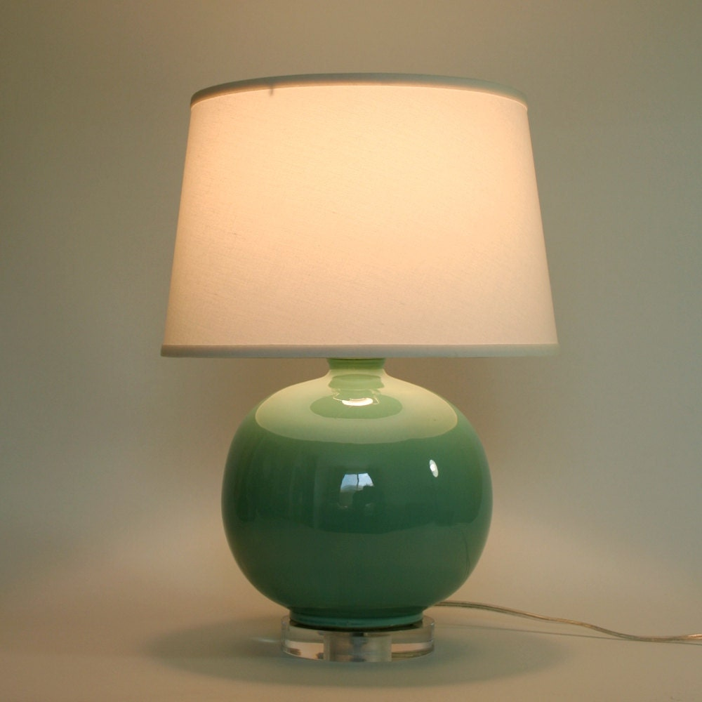 Teal Ceramic Accent Lamp Base