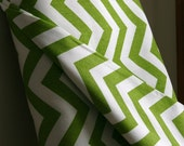 Green/White Chevron Home Decor Weight Fabric from Premier Prints - ONE HALF  YARD