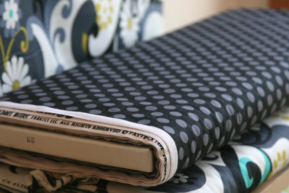 Ta Dot in Black from Michael Miller Fabrics - ONE HALF  YARD