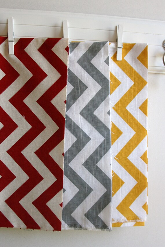 Chevron Home Decor Fabric Scrap Bag 12 Ounces By Sewfinefabric