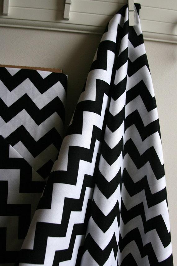 Chevron in Black from Riley Blake Fabrics - ONE YARD