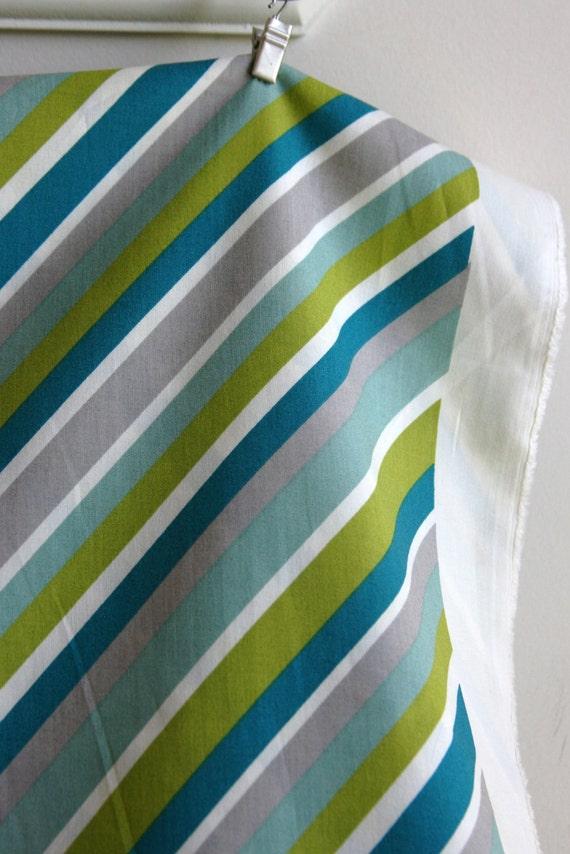 Organic Mod Stripe in Grass by Designer Dan Stiles from Birch Fabric - ONE FAT QUARTER