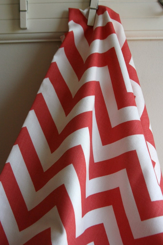 Coral Chevron Home Decor Weight Fabric from Premier Prints - ONE YARD