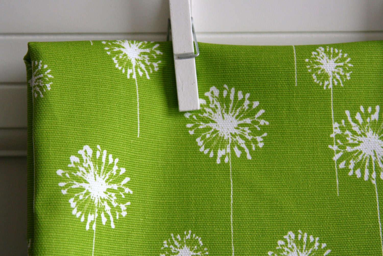 Chartreuse Dandelion Home Decor Weight Fabric By SewFineFabric