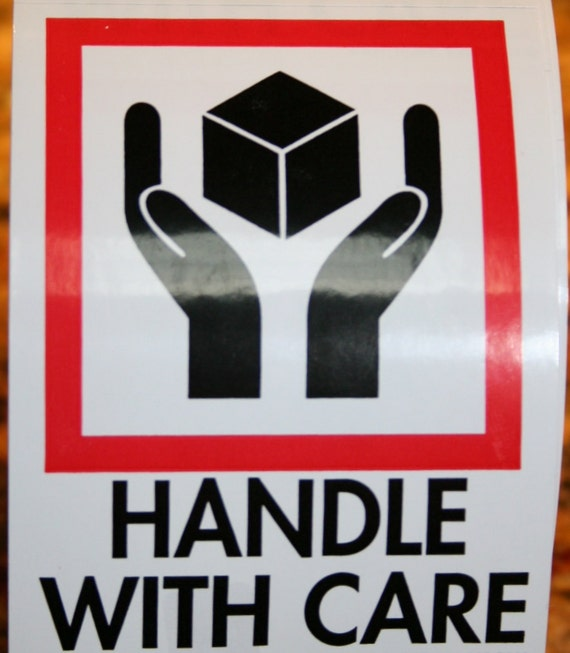 Handle With Care Stickers/Labels (20 Labels)