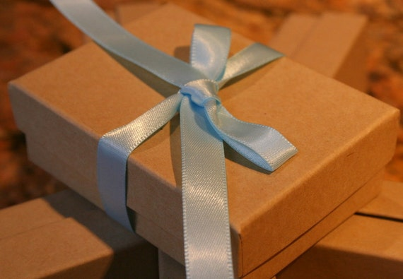 Reserved Destash Natural Kraft Gift Boxes With Cotton Great For Gift Giving (20)