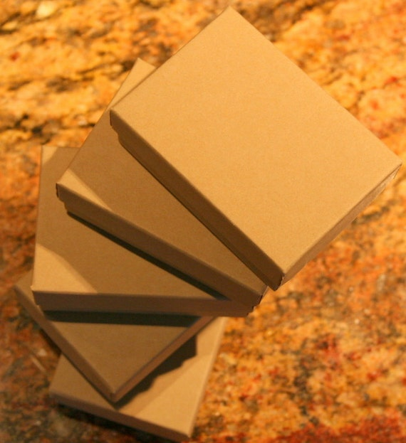 Custom listing 1 Small Natural Kraft Gift Boxes With Cotton Great For Gift Giving