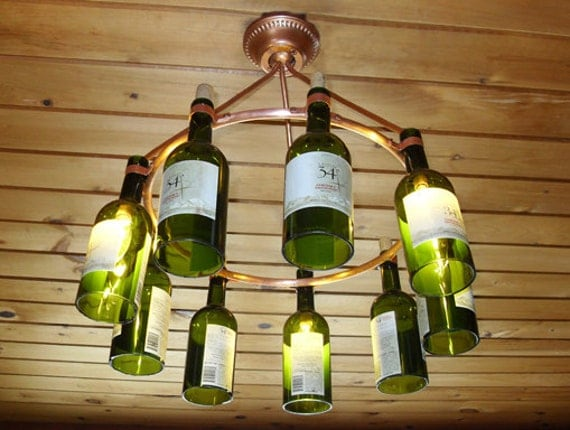Unavailable listing on etsy for How to make your own wine bottle chandelier