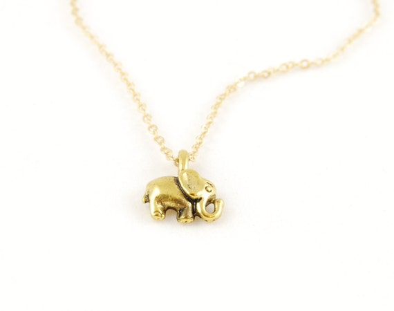 Elephant Necklace, Gold