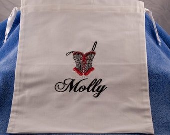 Personalized Lingerie  Bag Embroidered