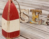 Beach Decor Lobster Buoy Red Vintage Style Nautical Wooden by SEASTYLE