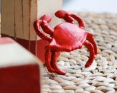Beach Decor Red Crabo Cast Iron Nautical by SEASTYLE