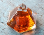 Beach Decor  Orange Sea Glass Deck Prism by SEASTYLE