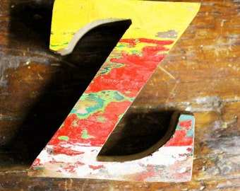 Wood Letter Z Vintage Nautical by SEASTYLE Home decor