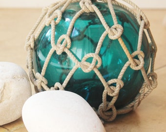 Beach Decor Emerald Fishing Float Vintage Style by SEASTYLE
