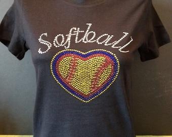 Softball Love Bling Shirt