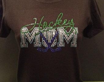 Hockey Mom Bling Shirt.