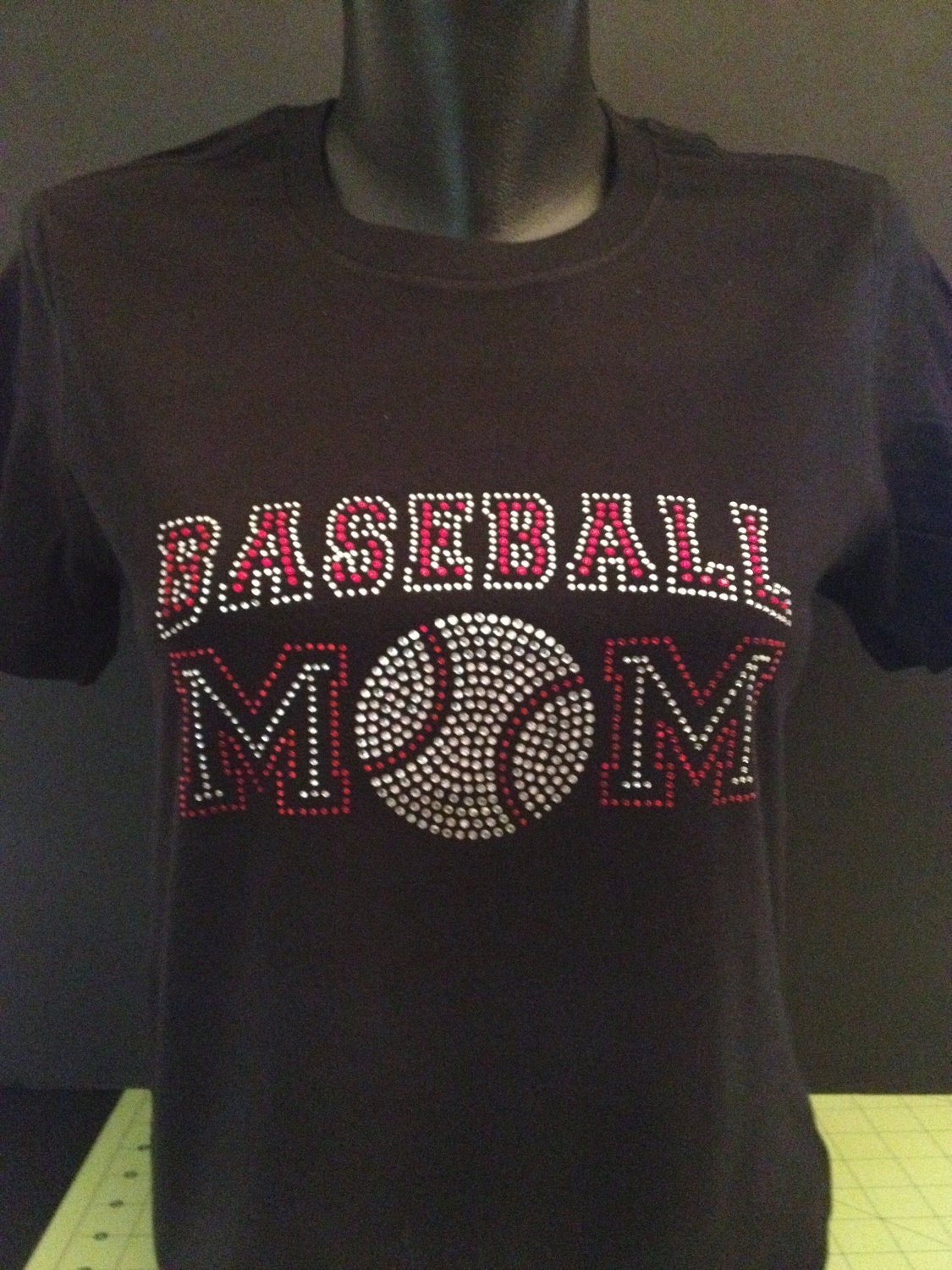 Baseball Mom Custom Bling T Shirt