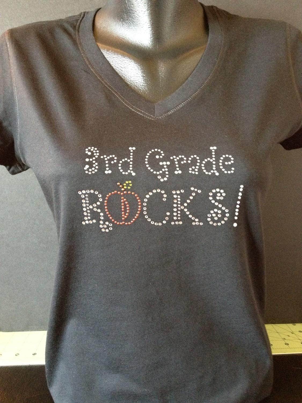 My Teacher Rocks Custom Bling T Shirt