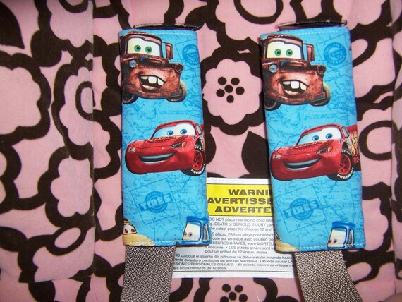Disney Cars Car Seat Shoulder Strap Covers