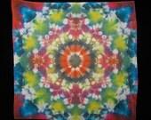 Psychedelic Rainbow Kaleidoscope Mandala Bandana