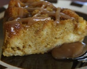 Pumpkin-Apple Bread Pudding-Luscious caramel, creamy pumpkin custard and Granny Smith apples