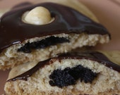 Dark Chocolate Hazelnut Tartlets by BakeCraft-Buttery shortbread tart filled with rich dark chocolate/hazelnut filling