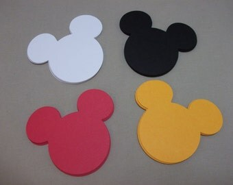 Mickey Mouse Heads-Die Cuts/Embellishments