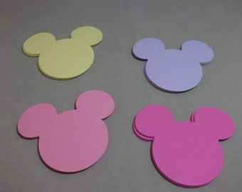 Minnie Mouse Heads-Die Cuts/Embellishments