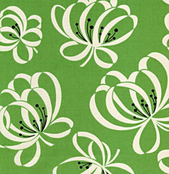 Denyse Schmidt Fabric--Katie Jump Rope--Green Ribbon--1/2 yard