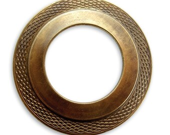Free US Shipping brass donut portal vintaj 40mm