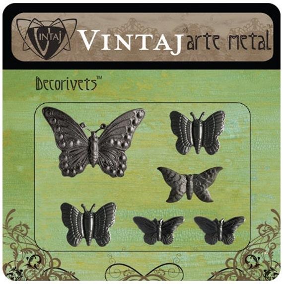 Butterfly Arte Metal Decorivets set of 6