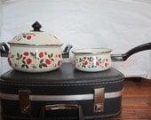 SALE Vintage Sheffield Strawberries n' Cream Pans