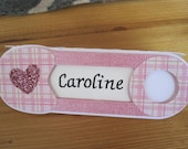 Baby Girl Safety Pin Place Cards for Baby Shower - Set of 6