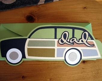 Handmade Station Wagon Dad Fathers Day Card