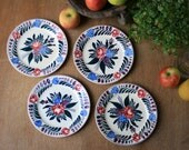 French Rare Plates Handpainted by Sarreguemines
