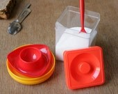 70s Egg Cups and Cannister Made in Germany