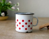 Enamel Mug with Polka Dots from Germany