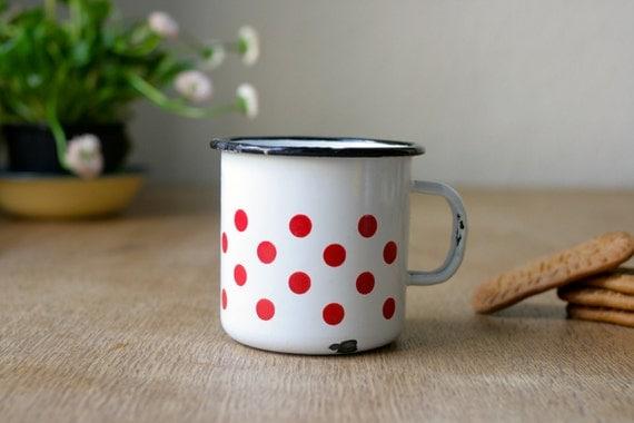 Enamel Mug with Polka Dots from Germany