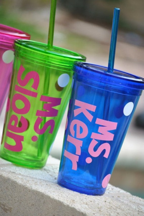 Custom Teacher Tumbler- GREAT TEACHER GIFT