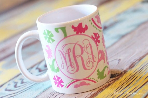 Monogram Coffee Mug -Teacher Gift -Co-Worker Gift-Heck a Great Gift for YOU