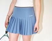 Vintage 1980s PLEATED Rbk Tennis SKIRT in Wedgewood Blue REEBOK