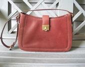 Vintage burgundy 100% leather Etienne Aigner Purse / pocket book / handbag with gold details