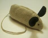 Handmade Hemp Catnip Mouse Toy
